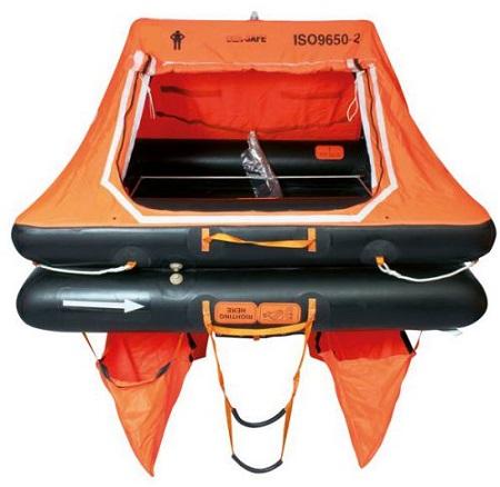04p Liferaft French Coastal ISO 9650-2 SEASAFE KHYJF-4 Valise