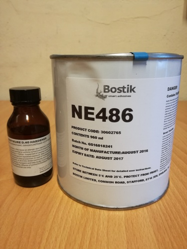 Adhesive for Repair Hypalon Neoprene Inflatables Bostik NE486 30602765